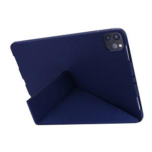 Чехол- книжка Solid Color Trid-fold Deformation Stand для Айпад Про 11 (2020) - синий