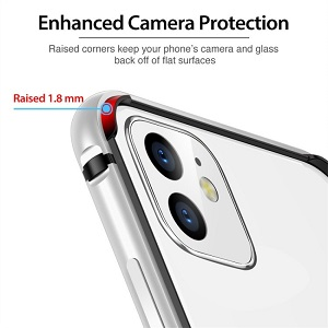 Бампер ESR Edge Guard Aluminum Alloy для Айфон 11 - серебристый