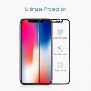 Защитное стекло на айфон 11 Про/X/Xs  3D  черное
