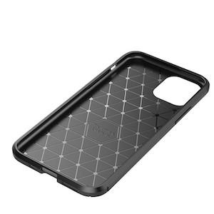 Карбоновый чехол для iPhone 11 Pro Max - черный