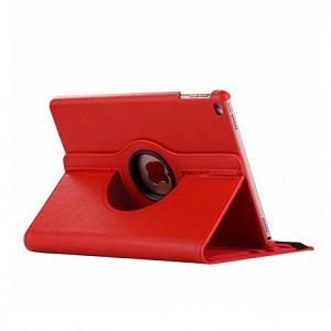 Кожаный xехол поворотный на iPad Mini 5 (2019)/ Mini 4 -красный