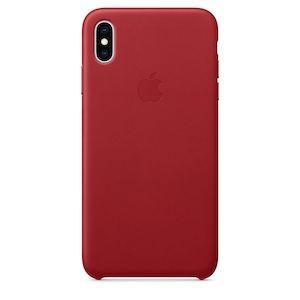 Чехол Leather Case Red на iPhone Xs Max