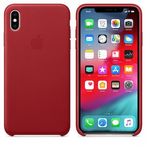 Чехол Apple Leather Case Product red для iPhone Xs Max