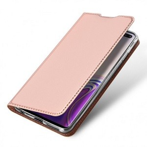Чехол-книжка DUX DUCIS на Samsung Galaxy S10 Plus/G975-розовое золото
