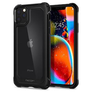 Оригинальный чехол SPIGEN GAUNTLET для Apple iPhone 11 PRO CARBON Black