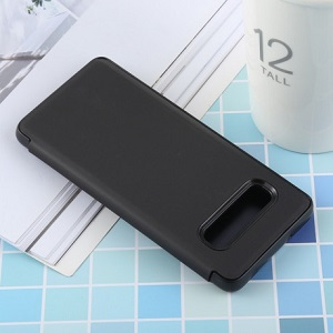Черный чехол Clear View для Samsung S10+