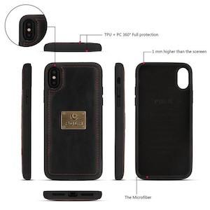 Кожаный черный чехол сумка для Айфон Xs Max