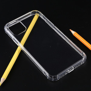 Противоударный силиконовый чехол для айфон 11 про-прозрачный