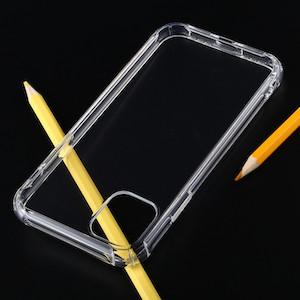 Противоударный силиконовый чехол для iPhone 11 Pro-прозрачный