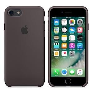 Apple Silicone Case темно-коричневый на айфон 8