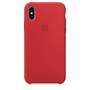 Чехол Silicone Case red на iphone xs max
